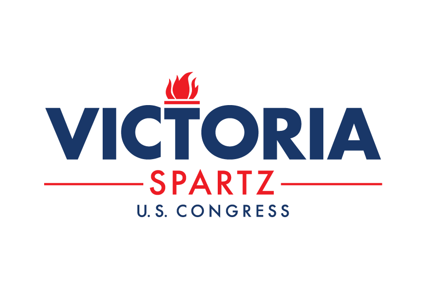 Spartz For Congress Logo Blue Red